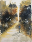 tableau paysages velo cycliste foret nature : Matt