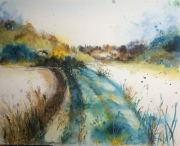 tableau paysages marbache paysage chemin foret : Chemin