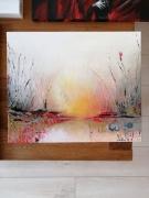 tableau paysages lumiere eau : Lumiere sur plan d eau