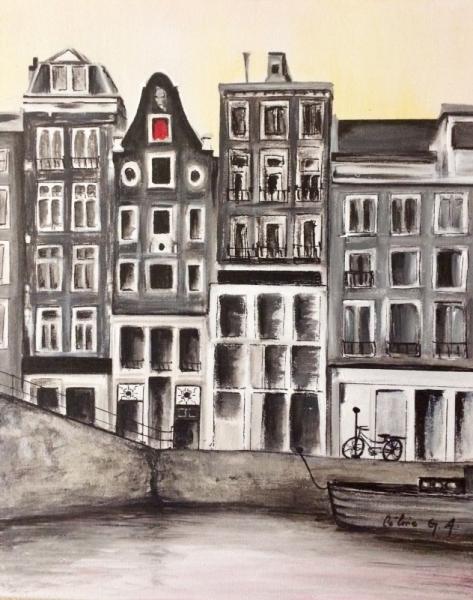 TABLEAU PEINTURE amsterdam Villes  - amsterdam