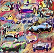 art numerique sport rallye miglia autruche : Mille Miglia