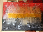 tableau abstrait abstrait argentee relax moderne : la ligne