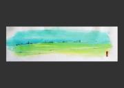 tableau abstrait paysage horizon panoramique : A L'HORIZON