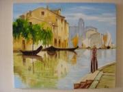 tableau villes venise lagune : venise la lagune