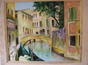 tableau villes venise canal gondole : venise Rio S Tomas