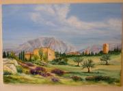 tableau paysages eygaliere provence paysage : Eygalière en Provence