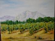 tableau paysages alpilles provence vignes : Les Alpilles