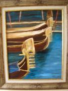 tableau marine venise gondoles : les gondoles