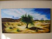 tableau paysages desert sable afrique : Le Désert