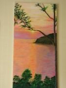 tableau paysages soleil lever mer : lever de soleil