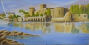 tableau paysages chateau mer provence : CHATEAU DE LA NAPOULE (06)