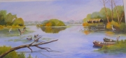 tableau paysages nature lac tranquilite beaute : LE LAC