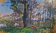 tableau paysages : Chênes au printemps
