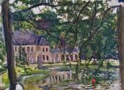 tableau paysages : Rivierenhorf l'étang