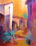 tableau villes sud de la francevil rose temeraireruell : Village du sud