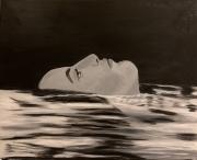 tableau personnages eau femme pensee portrait : Pensée d'un soir