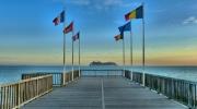 photo paysages architectures mer paysages : L'estacade de Sainte-Adresse au Havre