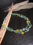 bijoux collier perles sautoir bijoux : Collier fantaisie vert