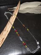 bijoux collier perles sautoir bijoux : Sautoir en métal