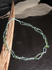 Sautoir en fil de coton