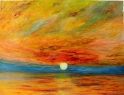 tableau marine ocean coucher soleil ciel paysage : ASTRAL