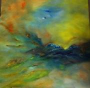 tableau paysages abstrait ocean soleil conteporain : SYMPHONY