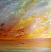 tableau marine mer ocean contemporain paysage ciel : CASHMERE