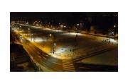 photo villes nuit neige parc lumiere : Vue de ma fenêtre 5
