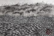 dessin marine vague ecume galets : Vagues et galets