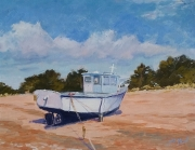 tableau marine : Bateau au repos à Trebeurden
