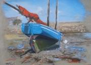 tableau marine : Barr Awel : En attendant la marée...