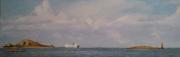 tableau marine : Ferry au départ de Roscoff