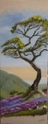 tableau paysages arbre lavande paysage montagne : Sur un lit de lavande