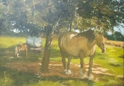 tableau animaux : Chevaux à Pont Menou
