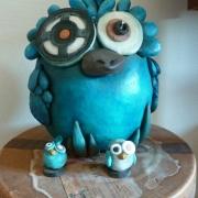 sculpture animaux chouette hibou ceramique animaux : La famille Hulotte