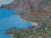 tableau paysages expositions artiste creations oeuvres : Roquebrune/Cap Martin et Monaco