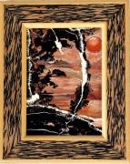 tableau paysages japonisme paysage ja hauts de france decoration : Soleil couchant au pays du soleil levant