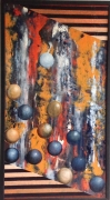 tableau abstrait abstraction lyrique lille : Jeu de boules 2