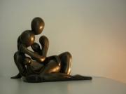 sculpture abstrait nus etreinte : CORPS ACCORD