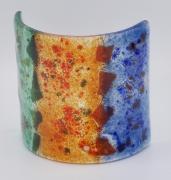 ceramique verre abstrait bougie art de table decoration lumiere : photophore petit