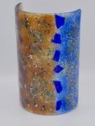 ceramique verre abstrait bougie art de table decoration lumiere : photophore grand