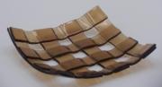 ceramique verre abstrait assiette salle de bain decoration fantasie : Porte savon marron