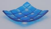 ceramique verre abstrait assiette salle de bain decoration fantasie : Porte savon turquoise