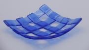 ceramique verre abstrait assiette salle de bain decoration fantasie : Porte savon bleu