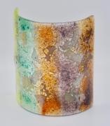 ceramique verre abstrait bougie art de table decoration lumiere : photophore moyen