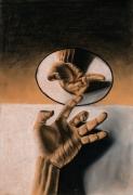 tableau : Reflet de la main