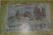 tableau paysages montagne hiver : L'Hiver est là.