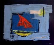 tableau marine bateau : Bateau sur l'Eau
