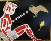 tableau personnages mythologie art contemporain acrylique : Le supplice de Prométhée