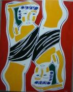 tableau personnages mythologie : Narcisse devant son reflet